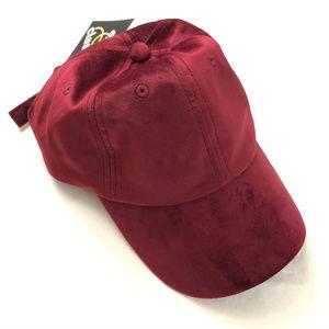 Art Class Kids Velvet Baseball Hat Burgundy